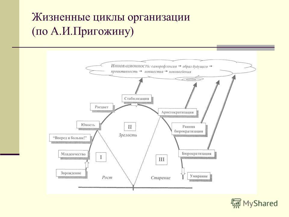 Жизненные циклы организации (по А.И.Пригожину)