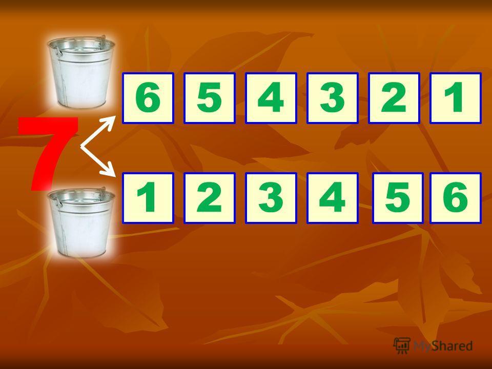 Лиса наловила 7 плотвичек и не знает, как их разложить в 2 ведра. Как мы можем это сделать ?