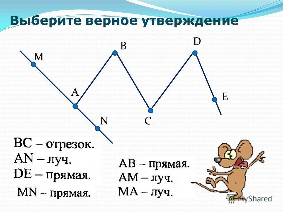 A B C D M N E Выберите верное утверждение