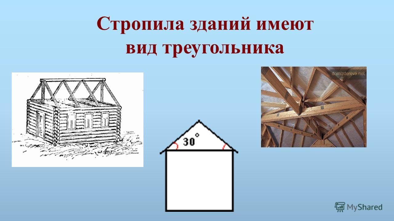 Стропила зданий имеют вид треугольника