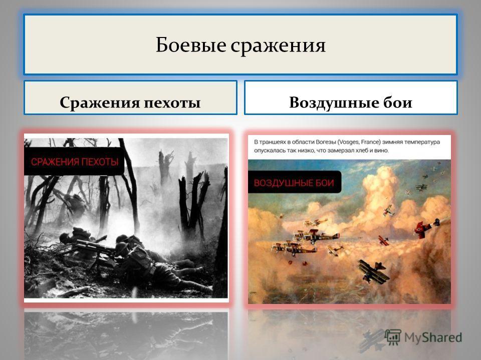 Боевые сражения Сражения пехоты Воздушные бои
