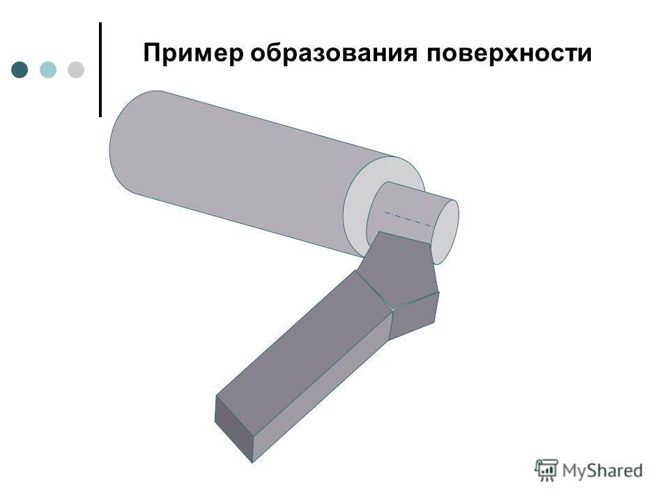 Пример образования поверхности