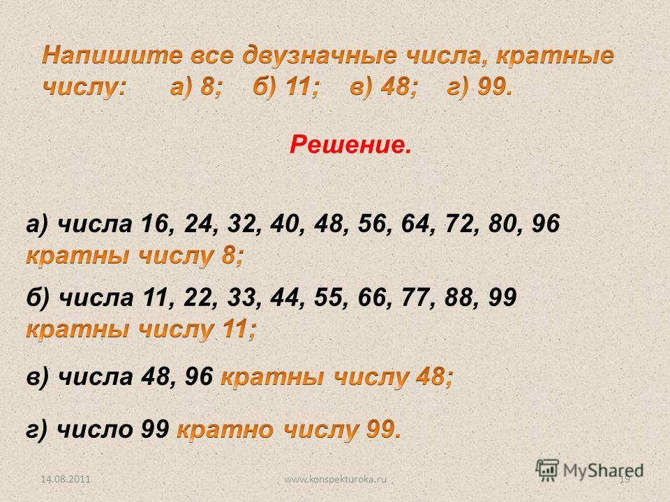 Решение. 14.08.201119www.konspekturoka.ru