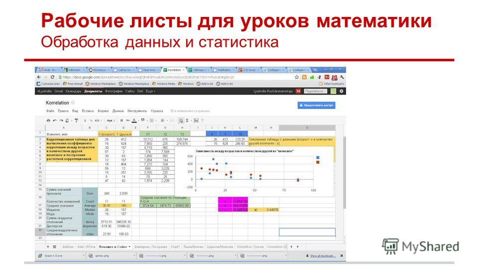 Рабочие листы для уроков математики Обработка данных и статистика