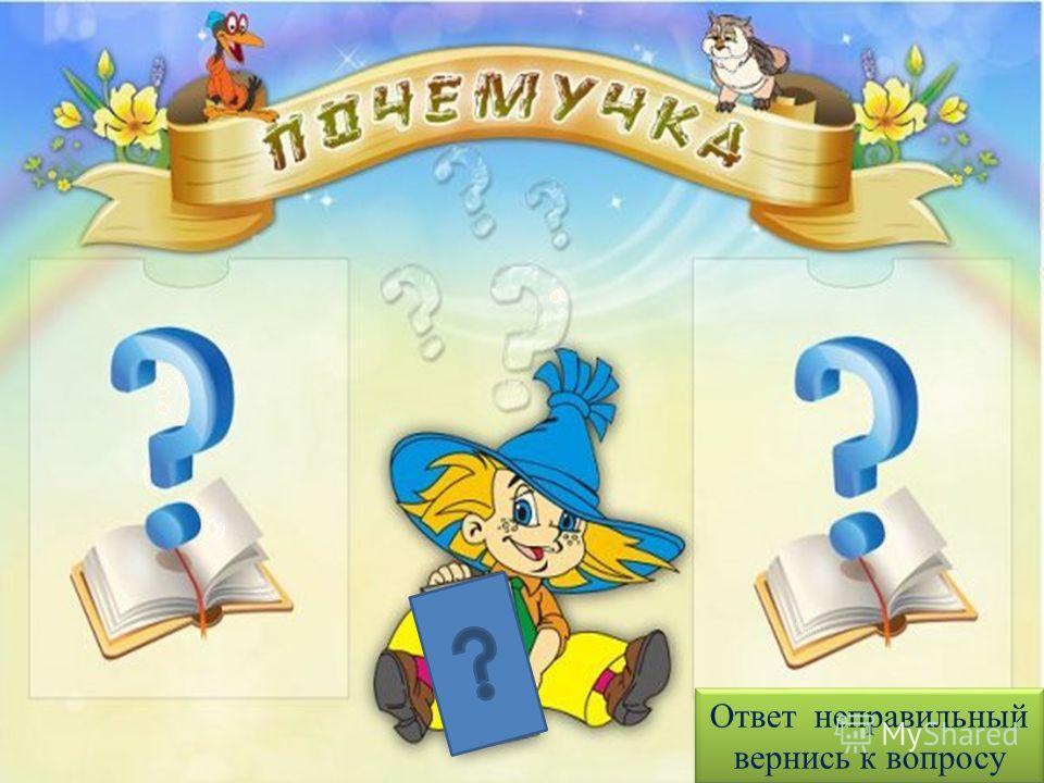 Ответ неправильный вернись к вопросу Ответ неправильный вернись к вопросу