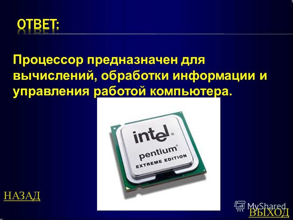 Для чего предназначен процессор ?