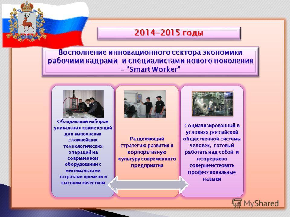 Восполнение инновационного сектора экономики рабочими кадрами и специалистами нового поколения –