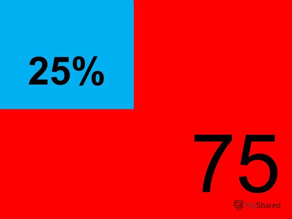 ® 75 % 25%