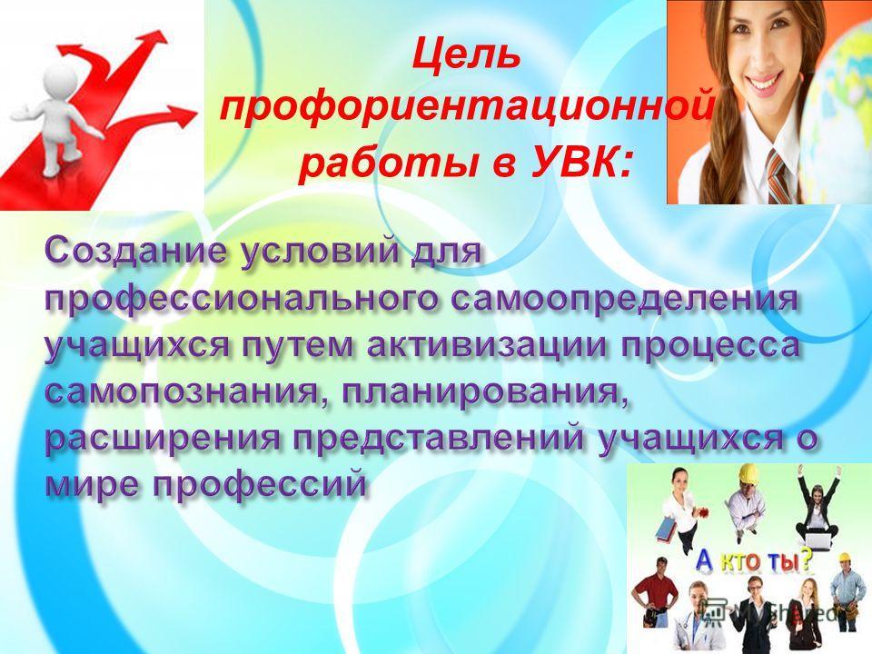 Цель профориентационной работы в УВК :
