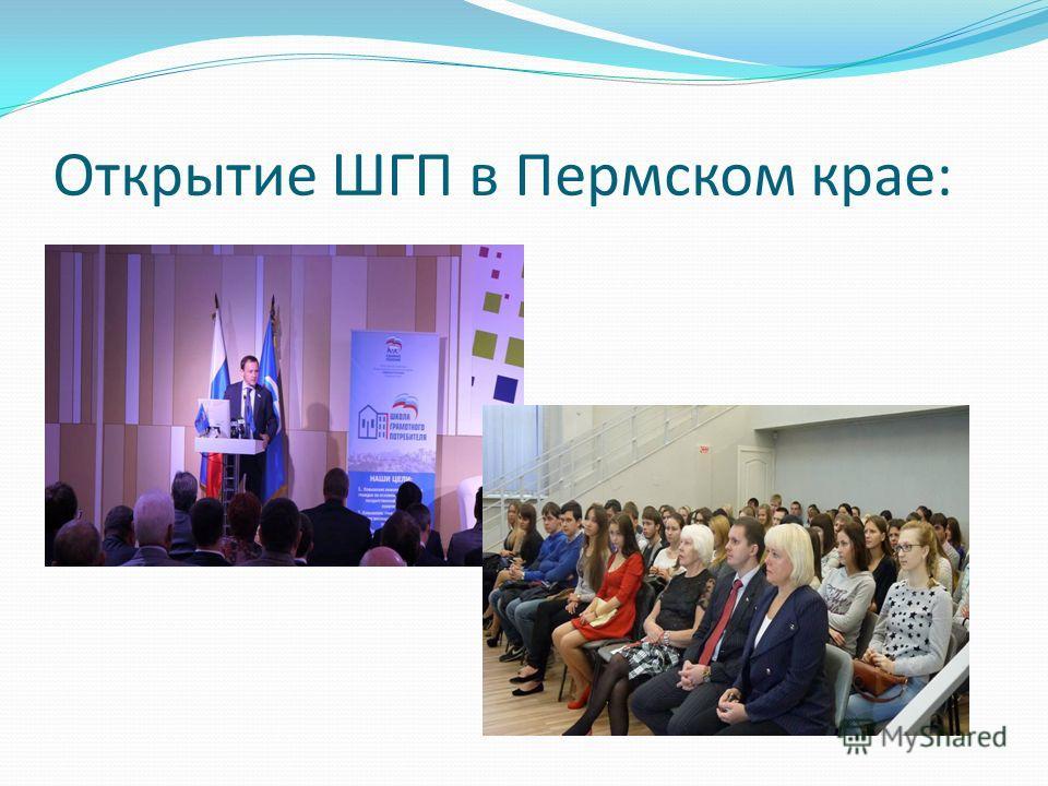 Открытие ШГП в Пермском крае: