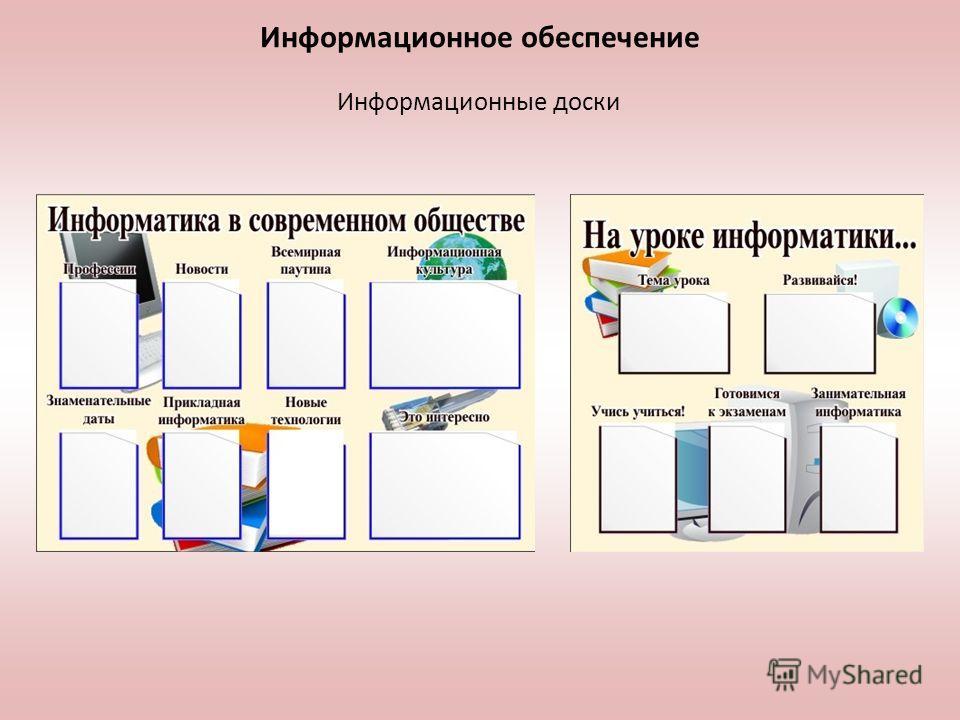 Информационное обеспечение Информационные доски