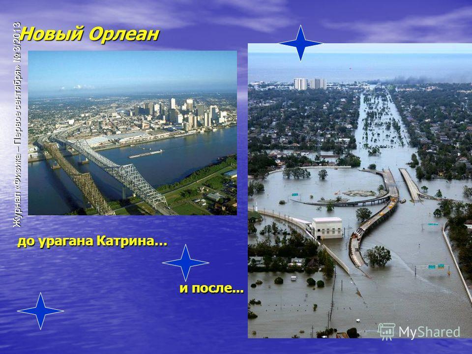 Журнал «Физика – Первое сентября» 3/2013 Новый Орлеан до урагана Катрина… и после...