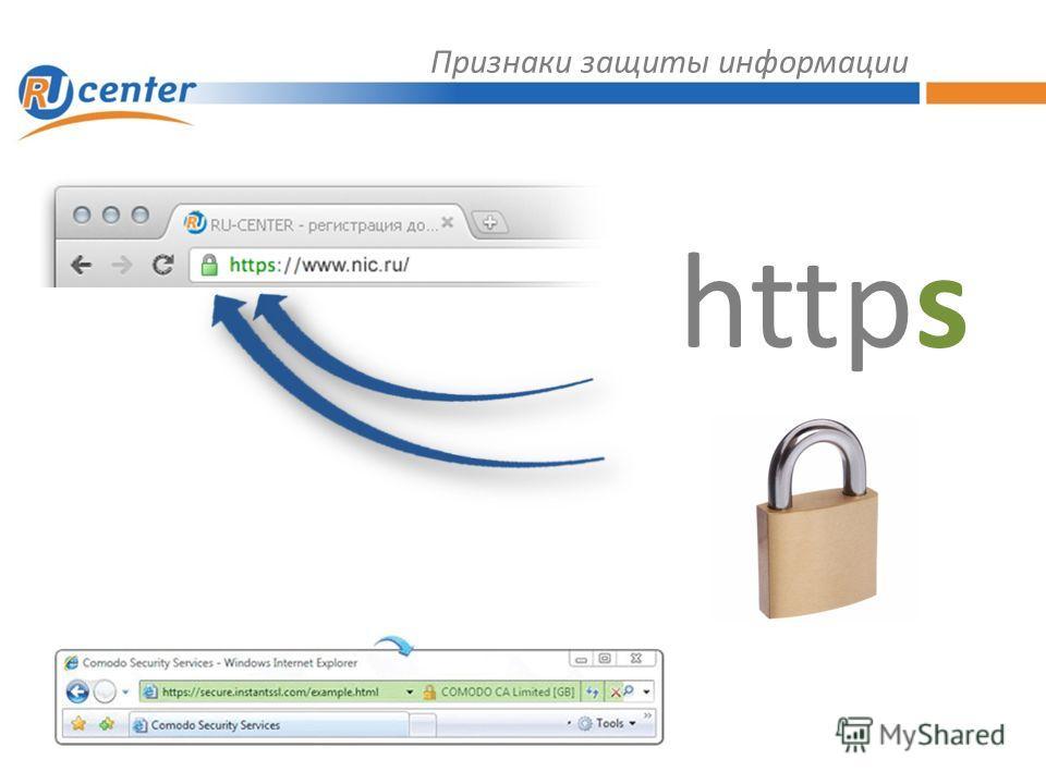 Признаки защиты информации https