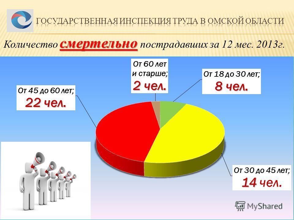 смертельно Количество смертельно пострадавших за 12 мес. 2013 г.