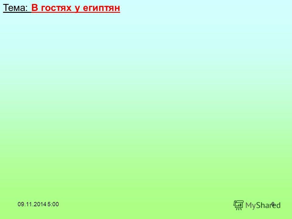 6 Тема: В гостях у египтян 09.11.2014 5:02