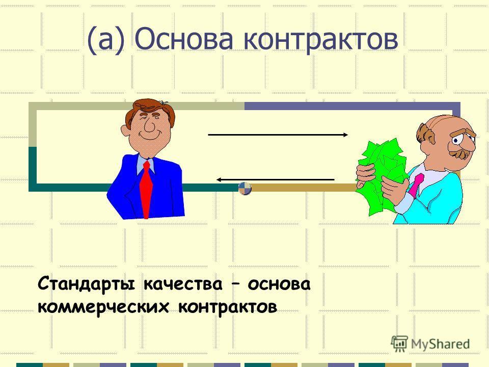 (a) Основа контрактов Стандарты качества – основа коммерческих контрактов