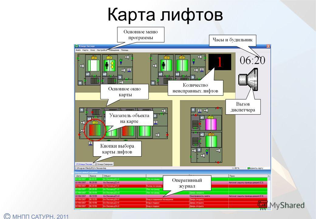 Карта лифтов