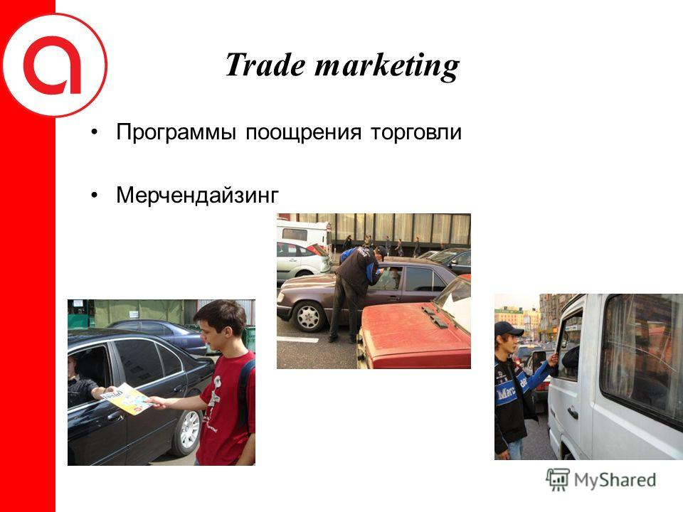 Trade marketing Программы поощрения торговли Мерчендайзинг