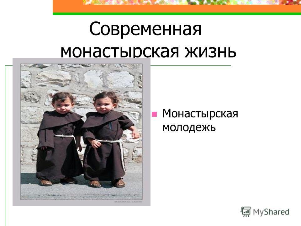 Современная монастырская жизнь Монастырская молодежь