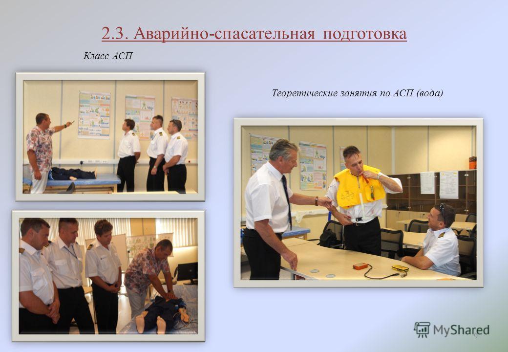 2.3. Аварийно-спасательная подготовка 9 Класс АСП Теоретические занятия по АСП (вода)