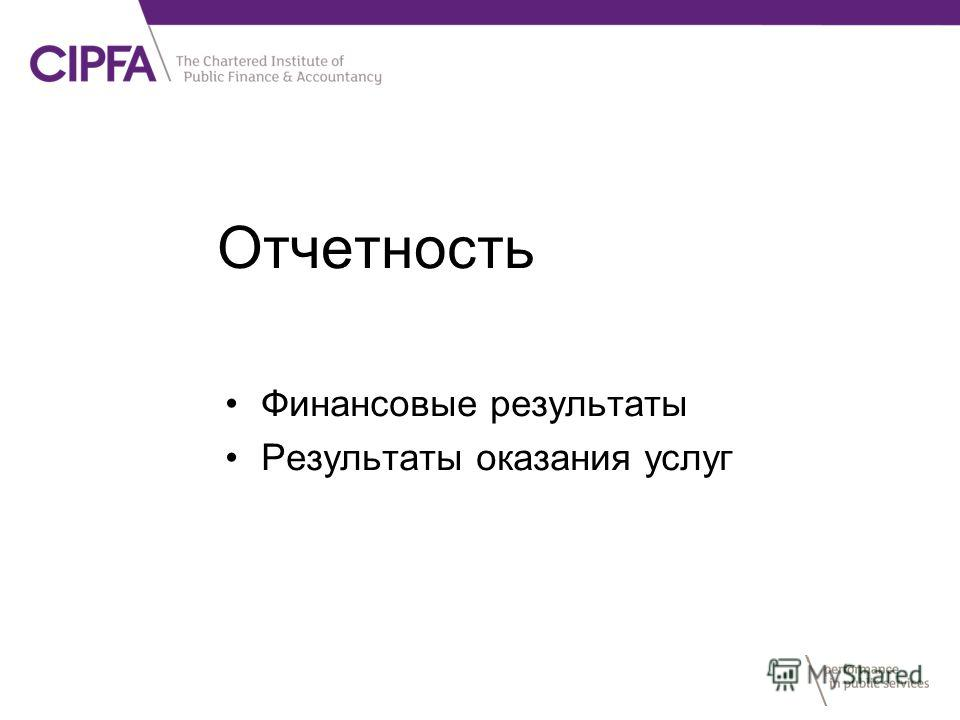 Отчетность Финансовые результаты Результаты оказания услуг