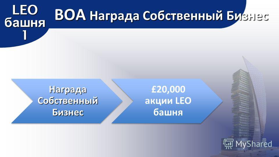 Награда Собственный Бизнес £20,000 акции LEO башня BOA Награда Собственный Бизнес LEO башня 1