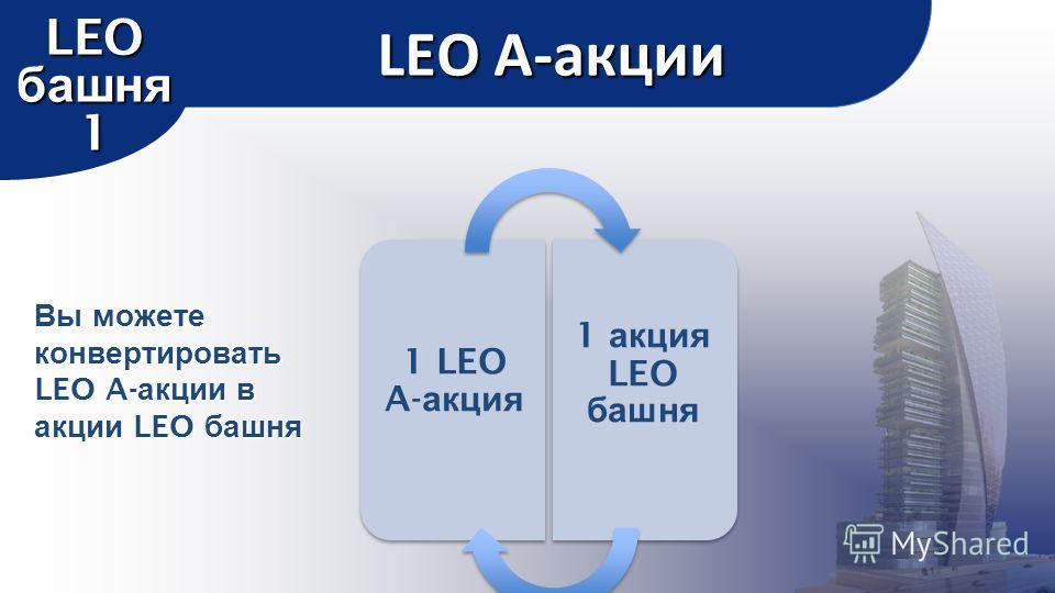LEO A-акции LEO башня 1 1 LEO A- акция 1 акция LEO башня Вы можете конвертировать LEO A- акции в акции LEO башня