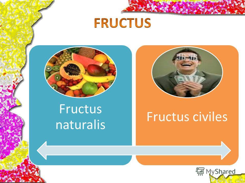 Fructus naturalis Fructus civiles