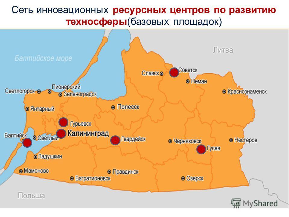 Сеть инновационных ресурсных центров по развитию техносферы(базовых площадок)