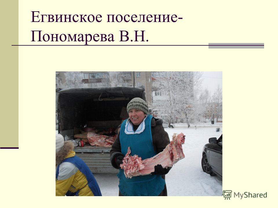 Егвинское поселение- Пономарева В.Н.