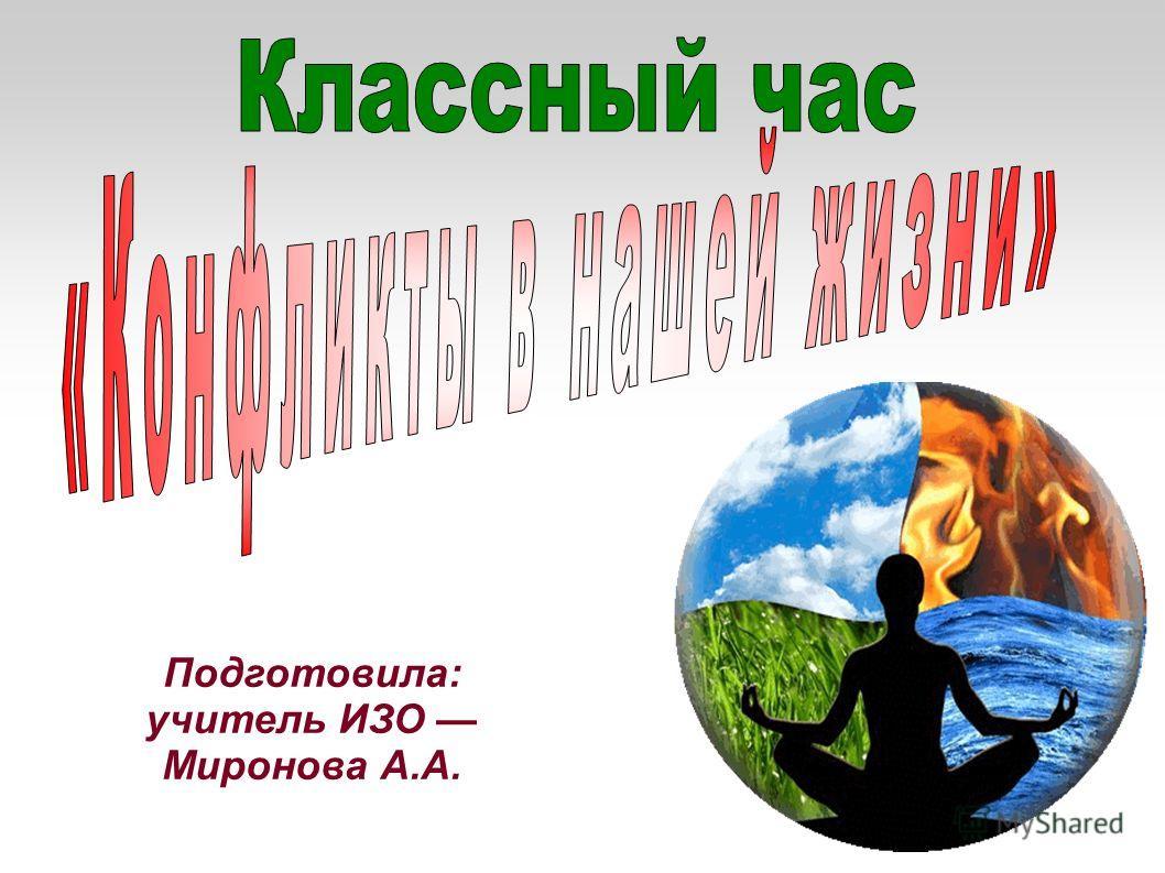Подготовила: учитель ИЗО Миронова А.А.