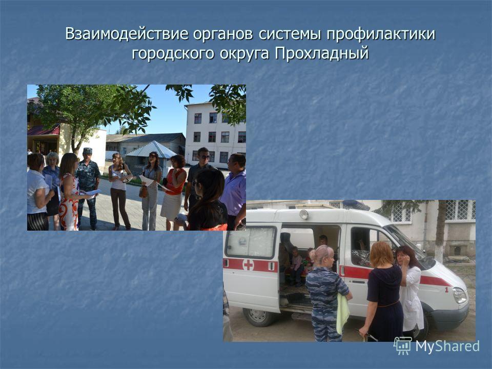 Взаимодействие органов системы профилактики городского округа Прохладный