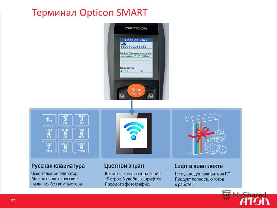 Терминал Opticon SMART 22
