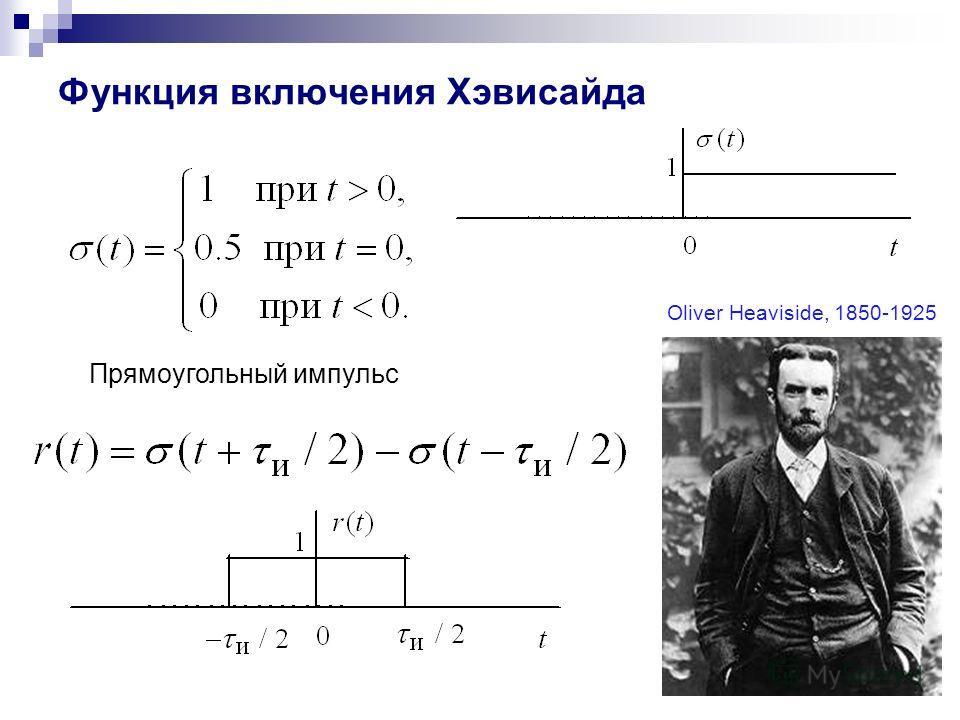 11 Функция включения Хэвисайда Прямоугольный импульс Oliver Heaviside, 1850-1925