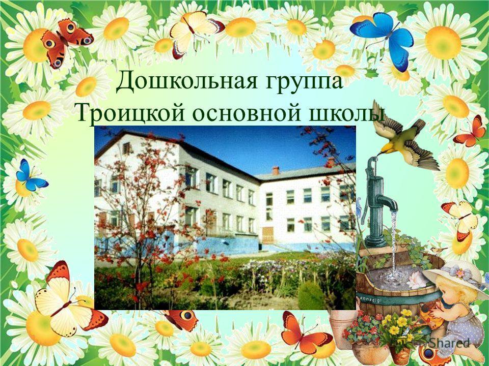Дошкольная группа Троицкой основной школы