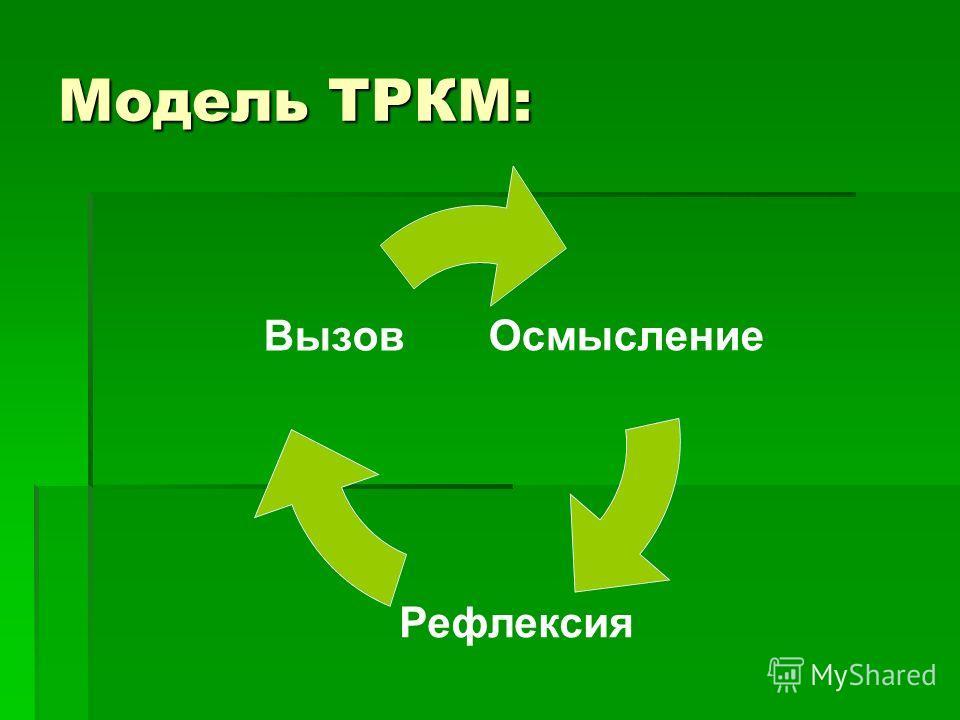 Модель ТРКМ: Осмысление Вызов Рефлексия