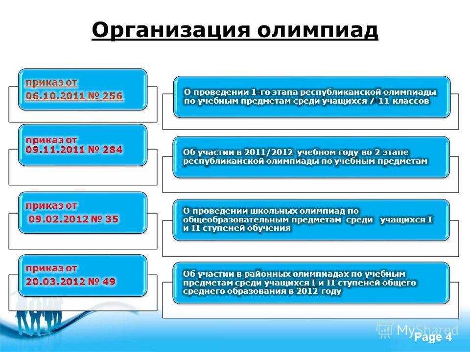 Free Powerpoint Templates Page 4 Организация олимпиад