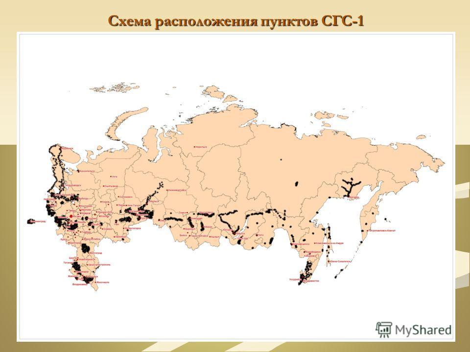 Схема расположения пунктов СГС-1