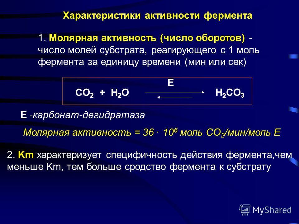 График уравнения Михаэлиса - Ментен в обратных координатах - график Лайнуивера - Бэрка - Km 1 1/V 1/S 1 Vmax tg = Km / Vmax 1 / V 0 =1 / Vmax + Km / Vmax. 1 / [S]
