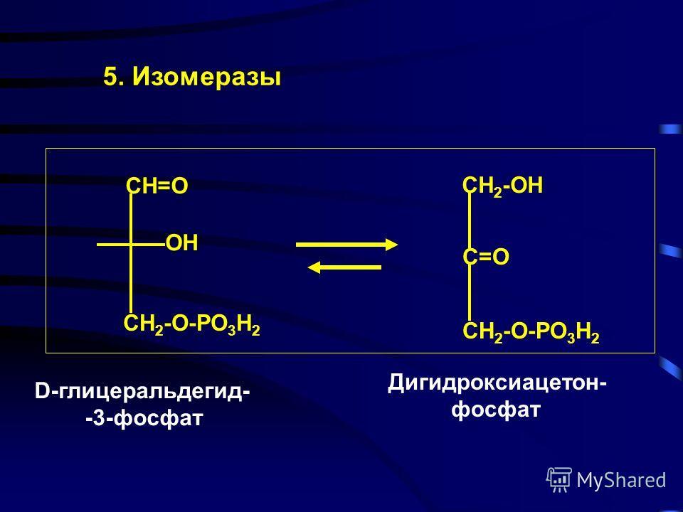 4. Лиазы - ферменты, отщепляющие группы от субстратов по негидролитическому механизму HOOC-CH-CH-COOH HOOC-C=C-COOH + H 2 O OH H H MAL FUM Н