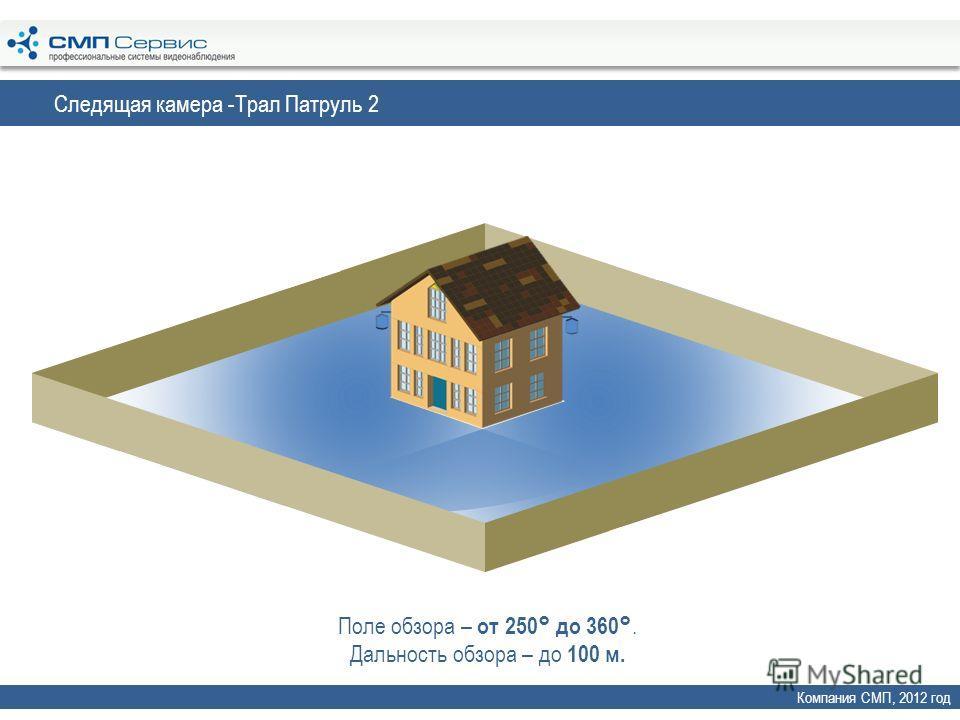 Следящая камера -Трал Патруль 2 Компания СМП, 2012 год Поле обзора – от 250° до 360°. Дальность обзора – до 100 м.