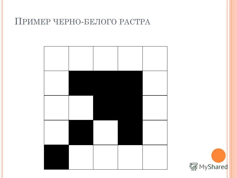 П РИМЕР ЧЕРНО - БЕЛОГО РАСТРА