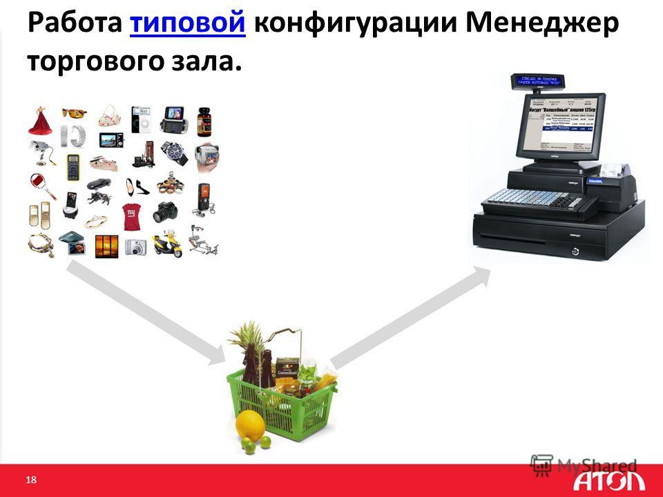 Работа типовой конфигурации Менеджер торгового зала.типовой 18