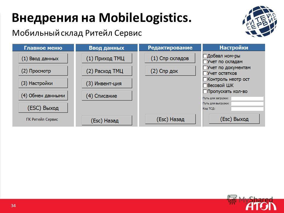 Внедрения на MobileLogistics. Мобильный склад Ритейл Сервис 34
