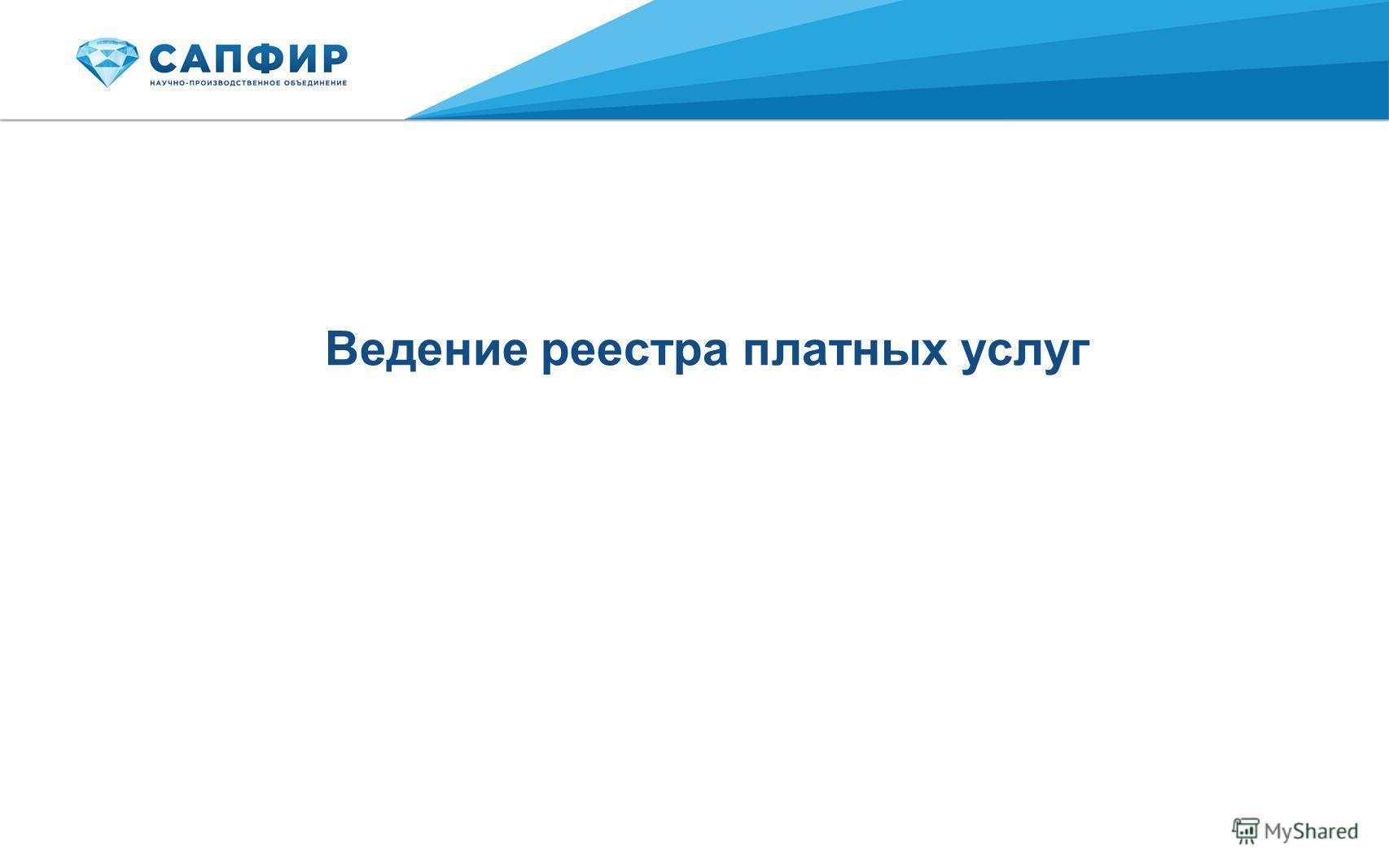 Ведение реестра платных услуг