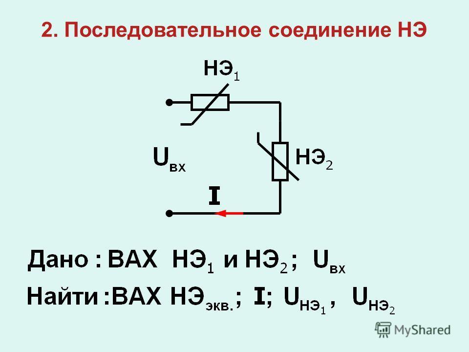 2. Последовательное соединение НЭ