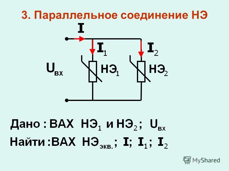 3. Параллельное соединение НЭ