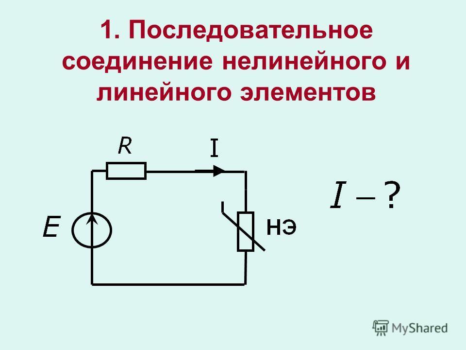 1. Последовательное соединение нелинейного и линейного элементов