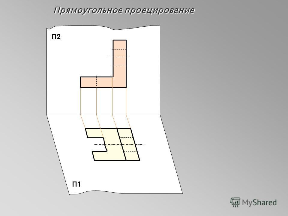 Прямоугольное проецирование П2 П1