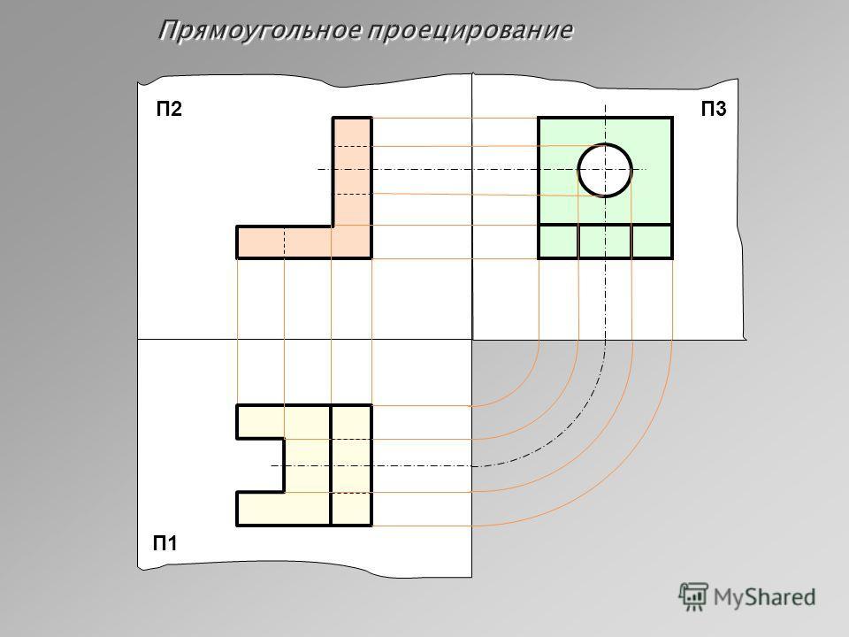 Прямоугольное проецирование П1 П3П2